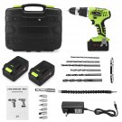 LCD Electricity Display Cordless Electric Screwdriver 1000mAh Li-ion Battery, With Accessories