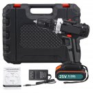25V Electric Drill High-Power Household Electric Screwdriver 2.2Ah Lithium Battery Power Drills