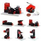 8 In 1 Multipurpose Wood Model Making DIY Tool Basic Lathe Milling Drilling Sanding Tools Kit