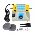 US/EU 350W Adjustable Speed Polishing Machine For Dental Jewelry Motor Lathe Bench Grinder Kit