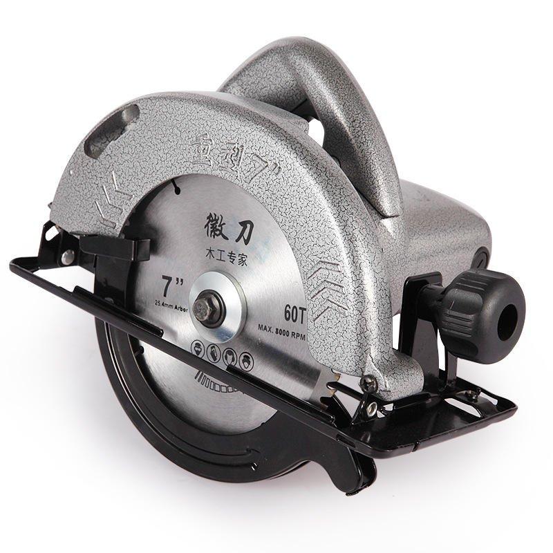 220V 7 Inch Electric Circular Saw 1480W, Woodworking Cutting Machine with 60T Saw Blade