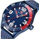 MINI FOCUS MF0155G Date Display Waterproof Men Wrist Watch Silicone Strap Quartz Watches
