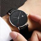 Deffrun Casual Style Business Men Wrist Watch Leather Strap Quartz Watch