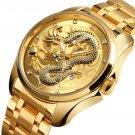 Luxury Chinese Dragon Pattern Golden Waterproof Men Watch Quartz Watch