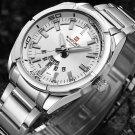 NAVIFORCE 9038 Waterproof Calendar Men Wrist Watch Full Steel Clock Quartz Watches