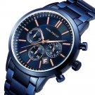 MINI FOCUS MF0188G Business Style Calendar Stainless Steel Men Wrist Watch Quartz Watch