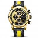 MEGIR 2079 Chronograph Sport Men Watch Date Display Leather Strap Quartz Watches