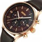 SKMEI 9117 Business Style Waterproof Men Wrist Watch Leather Strap Quartz Watches