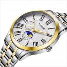 LONGBO 5013 Fashion Calendar Quartz Watches Full Steel Couple Wrist Watch
