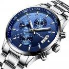 CRRJU 2214 Business Style Men Fashion Full Steel Calandar Waterproof Clock Quartz Watch