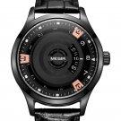 MEGIR MG1067 Fashion Casual Men Calendar Function Leather Watch Band Quartz Wrist Watch