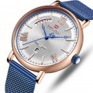 NAVIFORCE 3006 Mesh Steel Band Calendar Quartz Watch Casual Waterproof Men Wrist Watch
