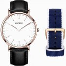 Fashionable Watch Casual Style Waterproof Two Watch Bands Quartz Men Watch