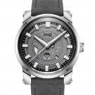 OUBAOER OB2020 Calendar Quartz Watches Luminous Display Leather Strap Men Wrist Watch