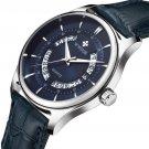 Business Style Leather Strap Men Wrist Watch Calendar Clock Quartz Watch