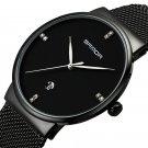 SANDA P210 Men Watch Fashion Simple Dial Stainless Steel Strap Male Quartz Wrist Watch