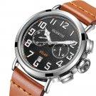 OCHSTIN GQ077A Calendar Casual Style Men Wrist Watch Leather Strap Elegant Quartz Watch