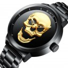 GIMTO GM244 Men Watch Skull Pattern Steel Watch Band Male Quartz Wrist Watch