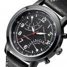 Hannah Martin Men Relogio Masculino Leather Band Decorative Small Dial Quartz Watch