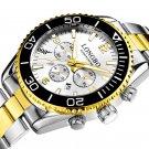 LONGBO 80523 Full Steel Luminous Display Waterproof Business Style Men Quartz Watch