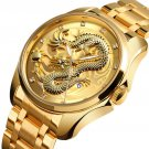 SKMEI 9193 Luxury Chinese Dragon Pattern Golden Waterproof Men Watch Quartz Watch