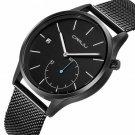 CRRJU 2129 Casual Style Calendar Men Wrist Watch Stainless Steel Strap Quartz Watches