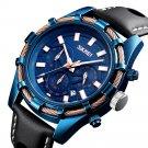 SKMEI 9189 Sports Luxury Leather Strap Luminous Waterproof Men Watch Quartz Watch