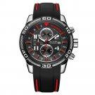 MEGIR 2045G Chronograph Date Display Quartz Watches Silicone Strap Men Wrist Watch