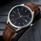 YAZOLE 502 Men Classic Leather Strap Simple Fashion Dial Business Style Quartz Watch