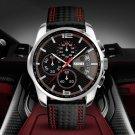 SKMEI 9106 5ATM Waterproof Sport Men Watch Calendar Function Stopwatch Quartz Watch