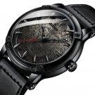 BIDEN BD0185 Wolf Dial Display Fashionable Men Wrist Watch Analog Leather Band Quartz Watch