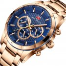 MINI FOCUS MF0170G Business Style Men Wrist Watch Stainless Steel Band Quartz Watches