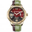 TOMORO TMR0214 Calendar Dual Colors Leather Men Quartz Casual Stylish Male  Wrist Watch