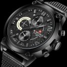 NAVIFORCE 9068 Stainless Steel Strap Quartz Watches Waterproof Week Display Men Watch