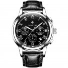 WISHDOIT WSD-016 Men Watch Fashion Chronograph Leather Strap Wrist Watch