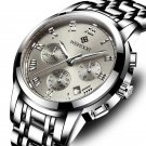 WISHDOIT WSD-016 Men Watch Fashion Chronograph Stainless Steel Strap Wrist Watch