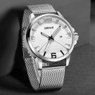 BREAK 3301 Calendar Sport Men Wrist Watch Simple Design Stainless Steel Quartz Watches