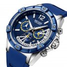 MEGIR 2083G Military Design Chronograph Silicone Waterproof Quartz Watch Men