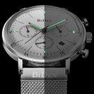 BIDEN BD00527 Luminous Display Chronograph Quartz Watch Full Steel Business Men Wristwatch