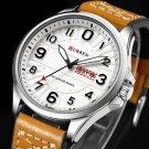 CURREN 8269 Calendar Luminous Display Leather Band Quartz Watch Steel Case Men Watch