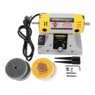 220V Adjustable Speed Mini Polishing Machine For Dental Jewelry Motor Lathe Bench Grinder Kit
