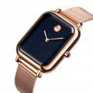 SKMEI 9187 Starry Sky Design Casual Style Waterproof Milanese Men Wristwatch Quartz Watch