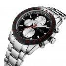 CURREN Decorative Three Dials Full Steel Quartz Watches Business Style Men - Silver Case+Black