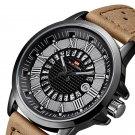 VAVAVOOM Creative Dial Calendar Display Waterproof Leather Men Wristwatch Quartz Watch
