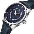 WWOOR 8863 Business Style Leather Strap Men Wrist Watch Calendar Clock Quartz Watch
