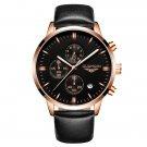 Luxury GUANQIN Men Fashion Wristwatch Waterproof Chronograph Leather Quartz Watch