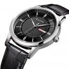 DOM M-11 Business Style Men Wrist Watch Calendar Leather Strap Clock Quartz Watch