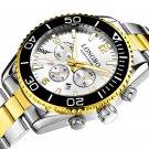 Fashion Full Steel Luminous Display Waterproof Business Style Men Quartz Watch
