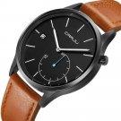 Casual Style Calendar Men Wrist Watch Leather Strap Working-dials Quartz Watches