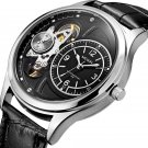 Military Stay Quartz Watches Leather Strap Clock Mechanical Appearance Men Watch